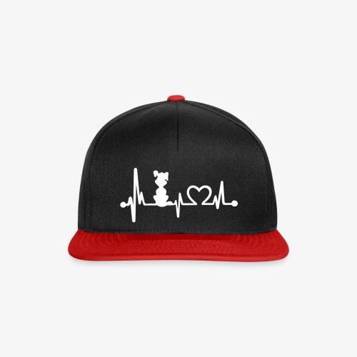 dog heart beat - Snapback Cap