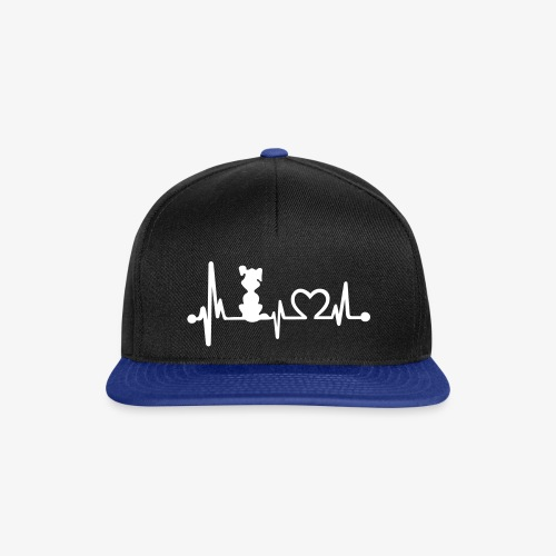 dog heart beat - Snapback Cap