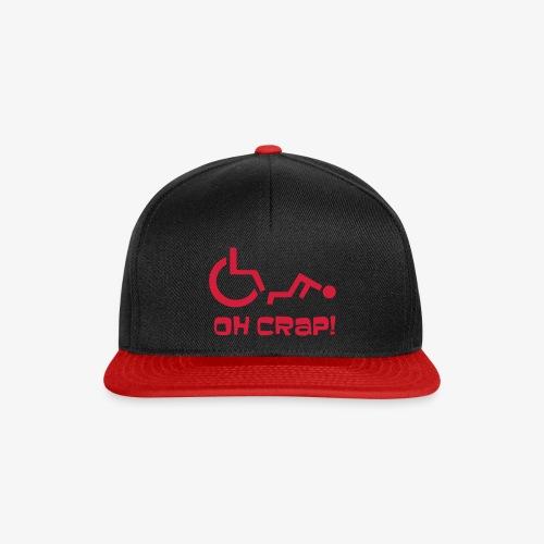 > Soms heb je pech en val je uit je rolstoel, crap - Snapback cap