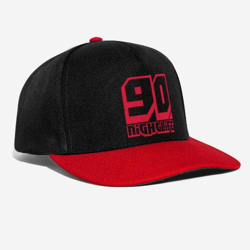 90 NIGHTLIFE (logo rosso) - Snapback Cap