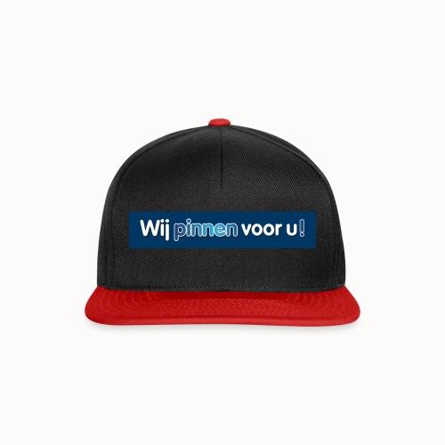 Artikelen met het nieuwe Wij Pinnen voor U logo - Snapback cap