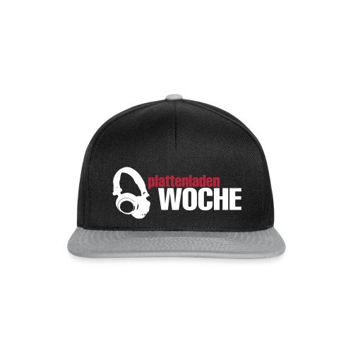 plattenwoche_weiss_rot - Snapback Cap
