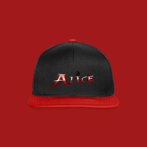 AliceShirtDruck1920x1080 grer png - Snapback Cap
