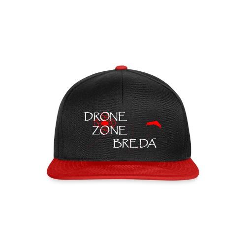 DroneZone Breda 2016LOGO White TXT Red Drones png - Snapback cap