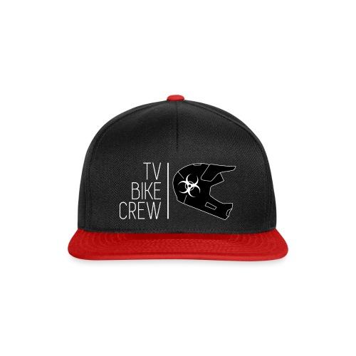 TVBikeCrew White - Snapback Cap