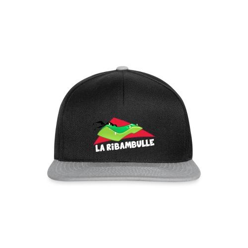laRibambulle logoHD blanc png - Casquette snapback