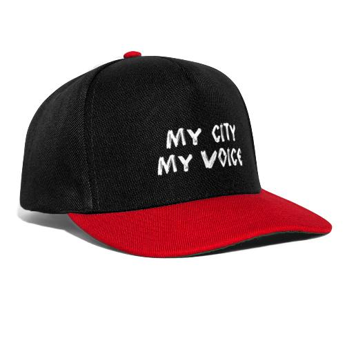My City My Voice 1 white - Snapback Cap