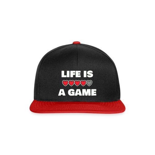 life is a game, White - Snapbackkeps