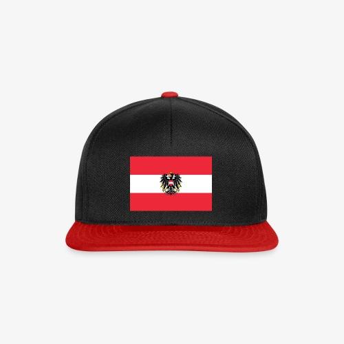 Österreichflagge mit Wappen - Snapback Cap