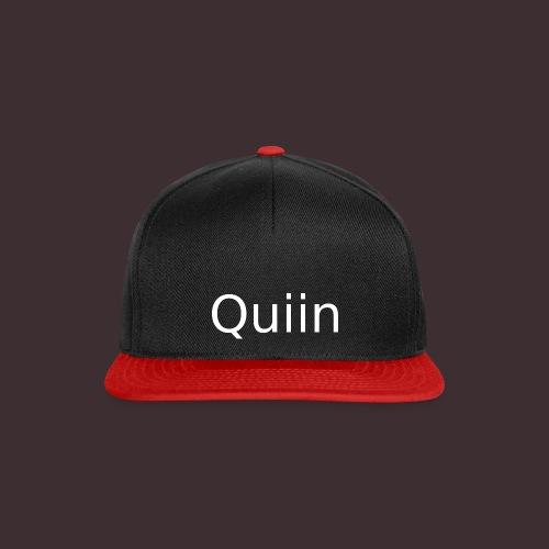 White_Quiin_outline - Snapback Cap