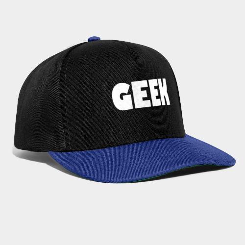 GEEK Text Logo White - Snapback Cap