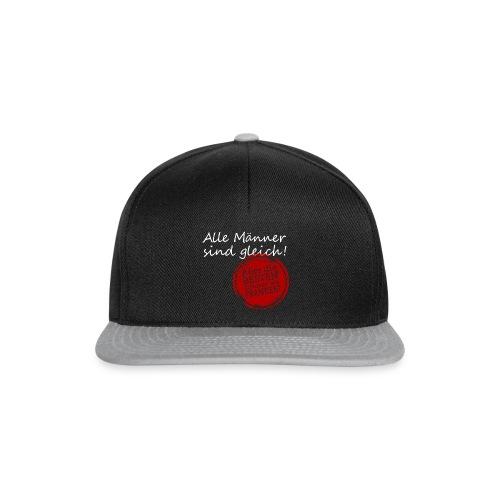 t-shirt_maenner_sind_glei - Snapback Cap