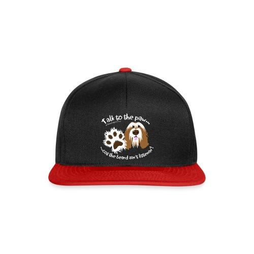 Talk to the paw brown beardie - Snapback Cap