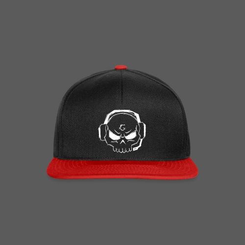 Gamer Skull Logo WHITE - Snapback Cap