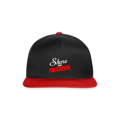 Share_on_fb_RED - Snapback-caps