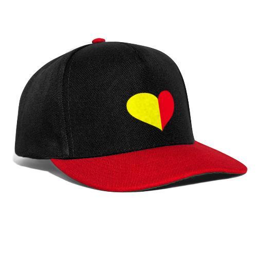 cuore giallorosso pieno - Snapback Cap