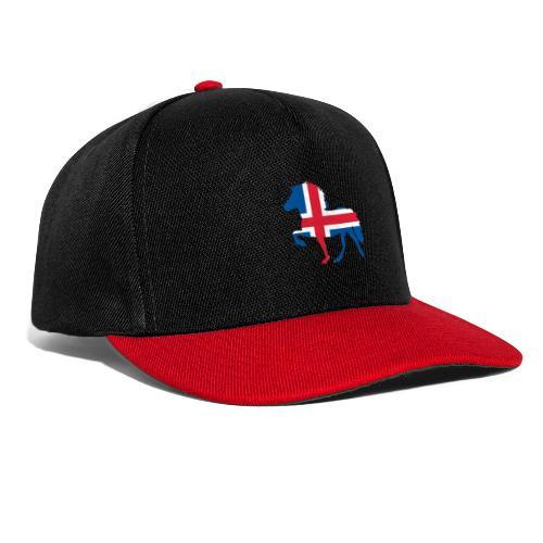 Island Pferd mit Flagge - Snapback Cap
