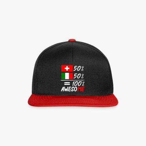 50% Schweiz 50% Italien - Snapback Cap