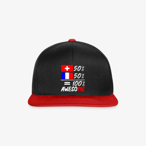 50% Schweiz 50% Frankreich - Snapback Cap