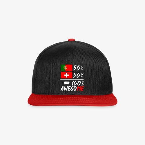 50% Portugal 50% Schweiz - Snapback Cap