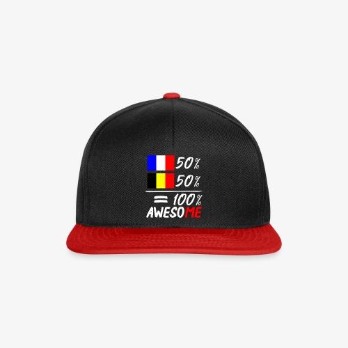50% Frankreich 50% Belgien - Snapback Cap