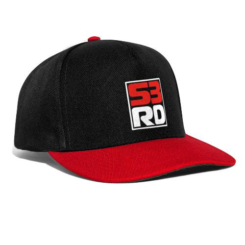 53RD Logo kompakt umrandet (weiss-rot) - Snapback Cap