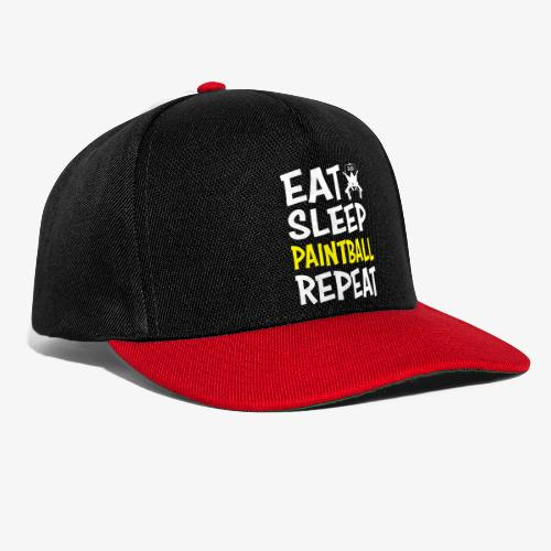 Eat, Sleep, Paintball and Repeat! - Snapbackkeps