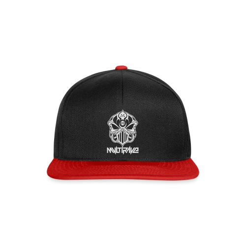 M-Skull white on black - Snapback Cap
