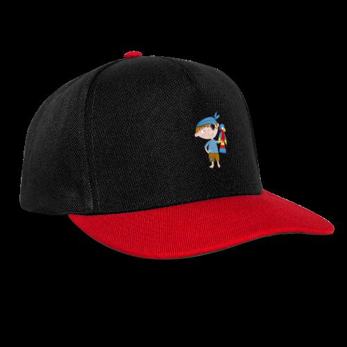 Kleiner Pirat mit Papagei - Snapback Cap