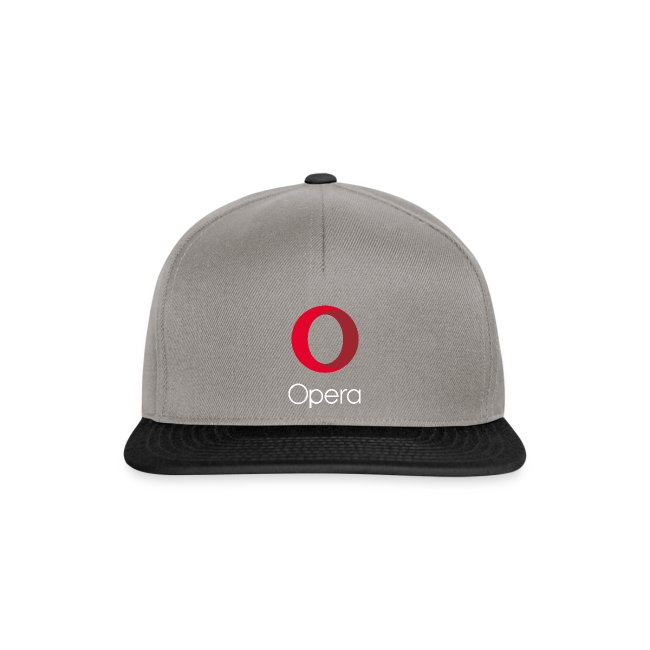 Opera logo vertical white