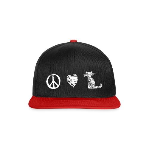 Vorschau: peace love cats - Snapback Cap