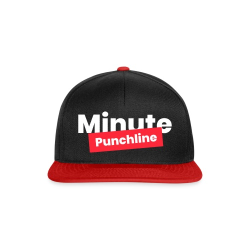Minute Punchline - Logo Blanc - Casquette snapback