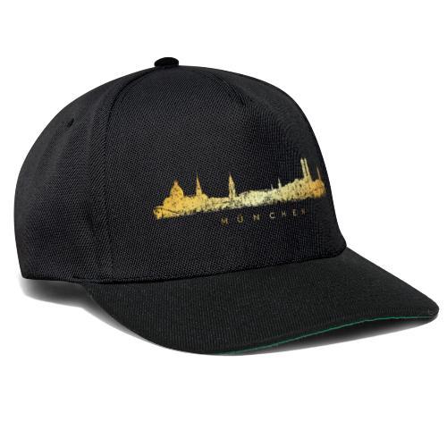 Münchener Skyline (Vintage/Goldgelb) München - Snapback Cap
