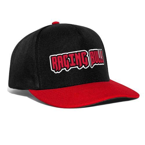 Raging Bulls Schrift und Logo in Farbe - Snapback Cap