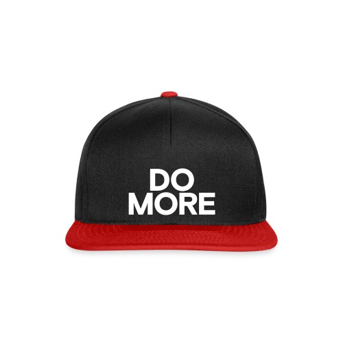 DO MORE text white - Snapback Cap
