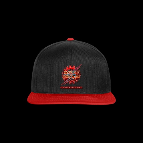 Records Logo Transparent with website red glow png - Snapback Cap