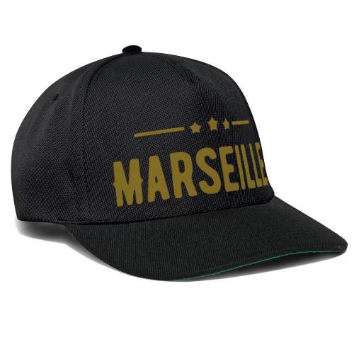 marseille in Goldener Schrift - Snapback Cap