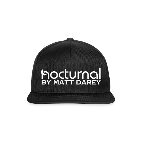 Nocturnal by Matt Darey White - Snapback Cap