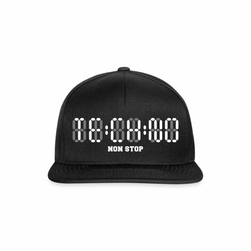 Techno Non Stop Digital Uhr - all night all day - Snapback Cap