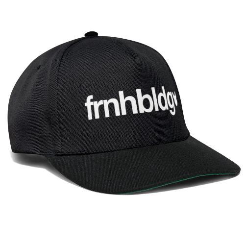 Französische Bulldogge Schriftzug mit Silhouette - Snapback Cap
