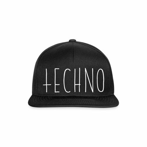 Techno Hand Schrift Text Kreuz Raver Party Musik - Snapback Cap