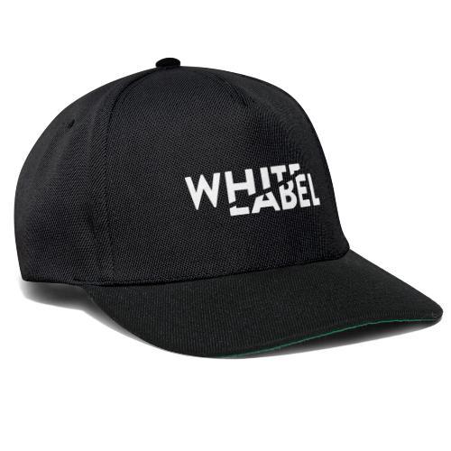 White Label Logo White - Snapback Cap