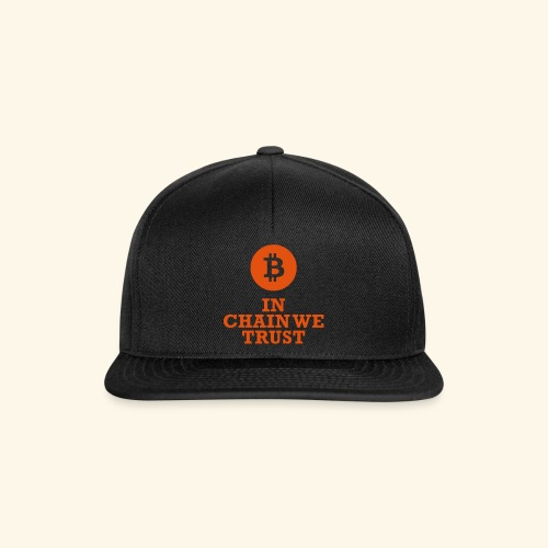 Bitcoin: In chain we trust - Snapback Cap