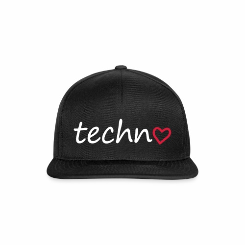Techno Liebe PLUR Herz Raving Floorliebe Club - Snapback Cap