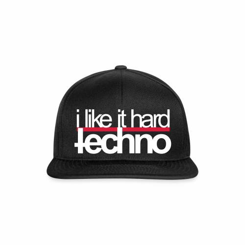 i like it hard techno Bass Rave Festivals Events - Snapback Cap