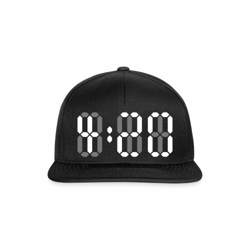 420 Clock Digital Uhr 4:20 Cannabis Hanf Kiffen - Snapback Cap