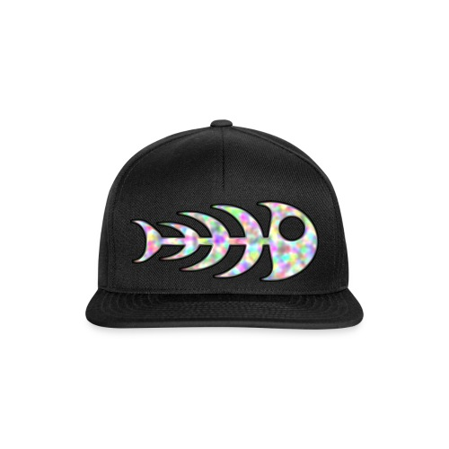 fish legs in rainbow colors - Snapback Cap