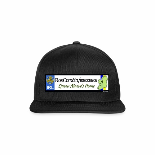 ROSCOMMON, IRELAND: licence plate tag style decal - Snapback Cap