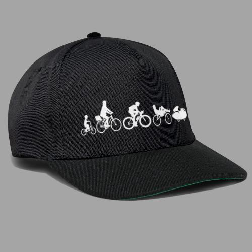 Bicycle evolution white Quattrovelo - Snapback Cap