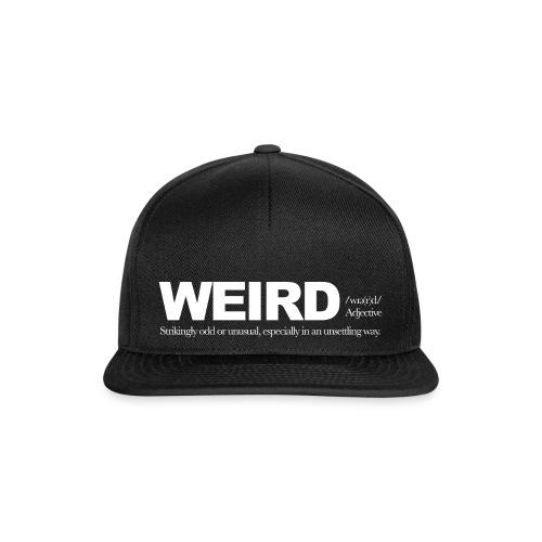 WIERD BW - Snapback Cap